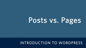 Posts vs. Pages in WordPress