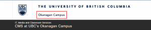 Figure 3: Campus mandate, located in the Brand Identity Header