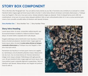 Story Box Component