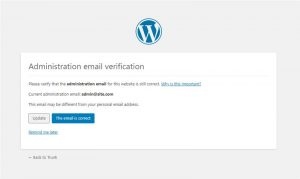 Site Admin Email Verification